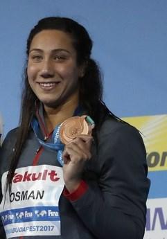 فريدة عثمان أهدت مصر أول ميدالية في بطولة العالم للسباحة
